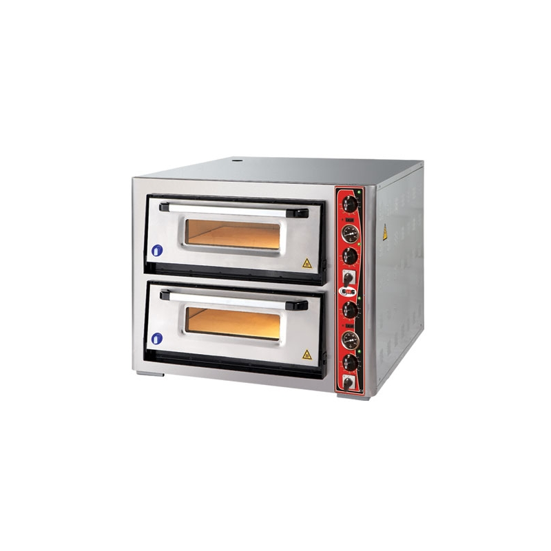 Pizzaofen CLASSIC Lux Voll Schamottestein PF 70105L, 2 Backkammer 6+6 34cm